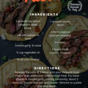 Longhorn Steak Tacos - Albanese Longhorns